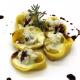 Tortelli all'anatra con fonduta di pecorino toscano e riduzione di Chianti al Ginepro